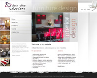 Black Olive Interiors - Website Design by Mc Designs