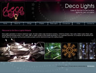 Deco Lights - Website Design by Mc Designs